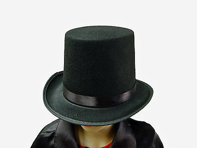 Kids Black Magician Top Hat Fancy Dress & Parties