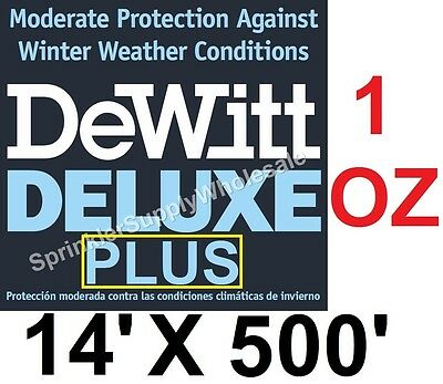 DeWitt Deluxe PLUS 14' x 500' 1oz Frost Cloth Plant Protection 14-5 Freeze