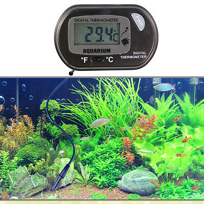 Digital LCD Fish Tank Aquarium Marine Water Thermometer Temperature Regulator