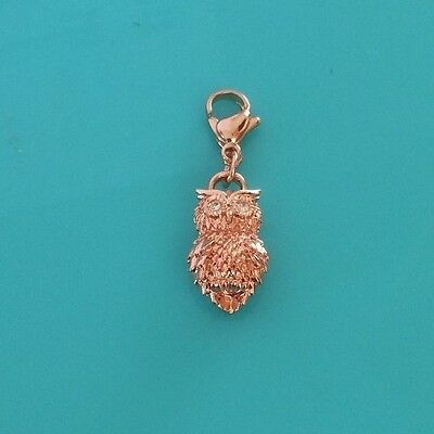 Origami Owl Authentic - Rose Gold Owl Dangle with Crystal Eyes - Beautiful!