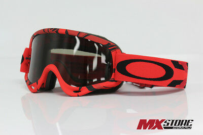 Oakley NEW Mx O-Frame Intimidator Grey Lens Adult Red Motocross Goggles