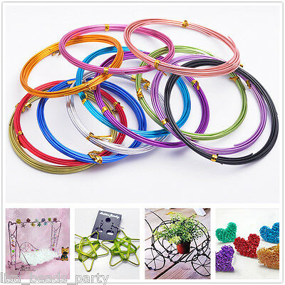 10Rolls(50meters) 18Gauge 1.0mm Aluminum Wrap Craft Wire Jewelry Making Mixed