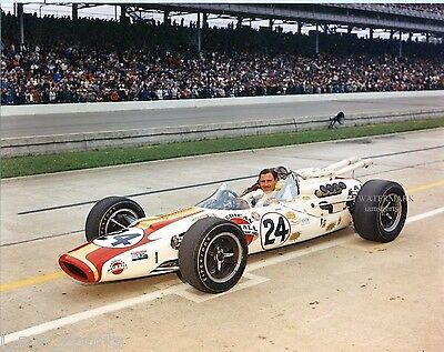 GRAHAM HILL 1966 INDIANAPOLIS 500 INDY WINNER 8x10 PHOTO