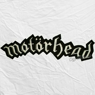 "Motorhead Word Logo Embroidered Big Patch Lemmy Kilmister Band Title 11"" Warpig"