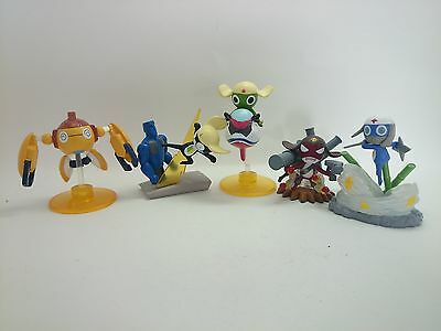 """Sgt. Frog 2-3"""" Minifigure Lot of 5 Complete Official Authentic Japan k#7348"""