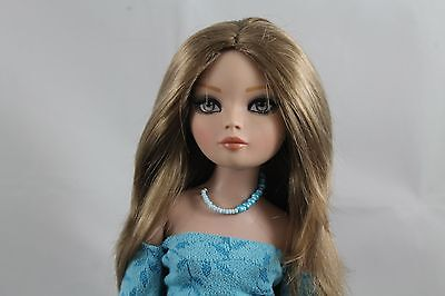 """SIZE 7-1/4 MONIQUE  WIG  """"SUE"""", GINGER BROWN, MADE FOR A ELLOWYNE WILDE DOLL"""
