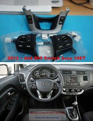 For 2012 ~ 16 KIA RIO RIo5 Auto Cruise Control Audio Remote Switch 4EA 1Set Genu