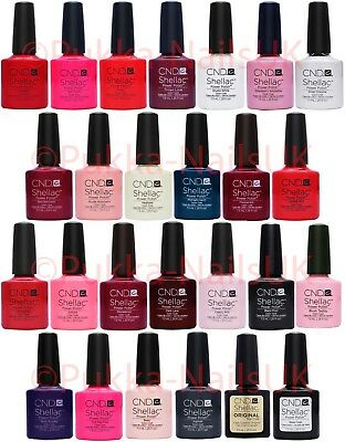 CND UV Shellac Nail Polish Colours,Top Coat, Base Coat, or Top & Base Set
