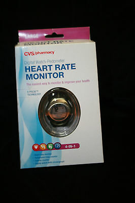 Heart Rate Monitor Fitness Watch Pulse + Calorie Counter Sport Exercise NEW LRGE