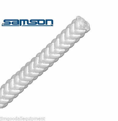 "True WhiteTree Climbing Rope by Samson, Rated 7300 Lb, 12 Strand,Firm 1/2""x 120'"