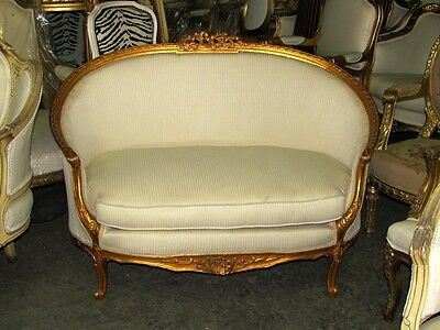 Stunning French Copper Gilt Corbeille Louis XV Sofa Settee Canapé