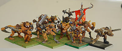 Citadel Warhammer Realms Of Chaos CHAOS MINOTAURS & LORDS Classic Metal Figures