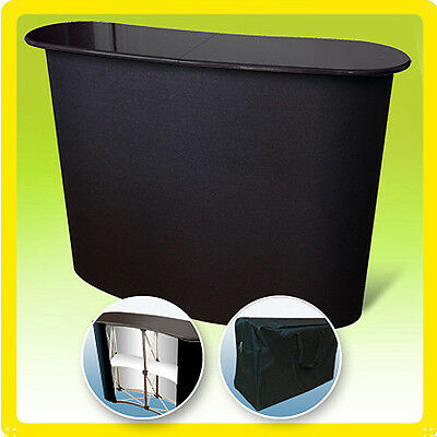 Podium Table Pop Up Counter Stand Promotion Retail Trade Show Display L1 - BLACK