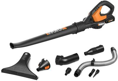 WG545.1 WORX 20-Volt MAX Lithium Cordless Sweeper/Blower with 8 attachements