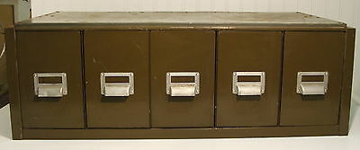 Vintage Green Heavy Duty 5 Drawer Industrial Cabinet ( 2 Available)