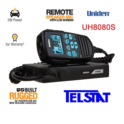 Uniden UH8080S 80Ch UHF CB Mobile and Scanner in 1 with 5 YEARS WARRANTY