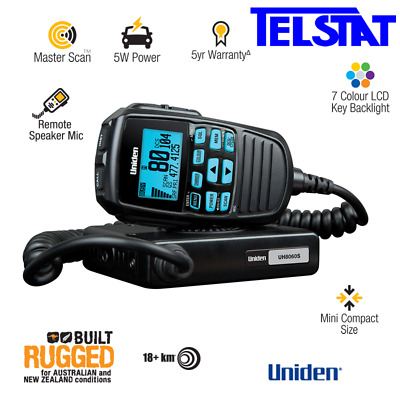 Uniden UH8060S UHF CB 80 Channel with LCD Remote Speaker Mic, 5 YEARS WARRANTY