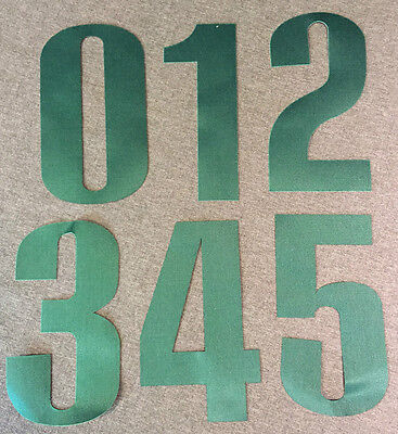 "New OREGON DUCKS Green 6"" Tall Iron-On JERSEY NUMBERS for Football / Basketball"