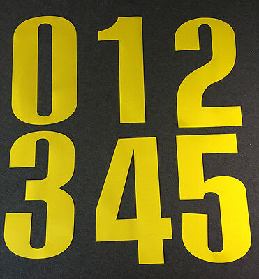"New OREGON DUCKS Yellow 8"" Tall Iron-On JERSEY NUMBERS for Football / Basketball"