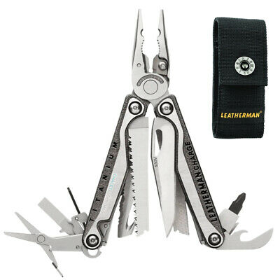 LATEST 2018 Leatherman CHARGE TTI + PLUS TITANIUM Multi Tool Knife & Sheath AUTH