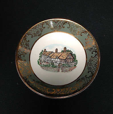 Vintage Royal Falcon Ware Weatherby Hanley Dish Thatched Cottage 1-75
