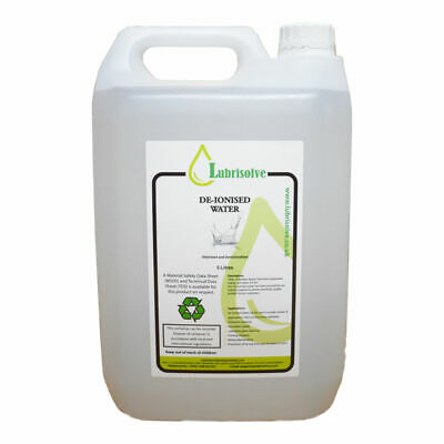 Distilled Water (Deionised/Demineralised/Ultrapure Water) - 5 LITRES