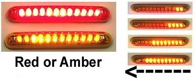 Knight Riderz Motorcycle LED Sequential Turn Signal Light Bars (Pair) - Amber