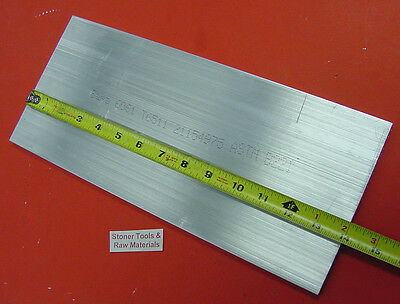 "1/4"" X 6"" ALUMINUM 6061 FLAT BAR 14"" long T6511 Solid .250"" Plate Mill Stock"