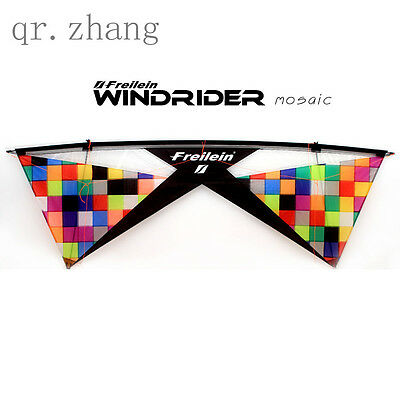 Windrider Mosaic Quad Line Stunt Kite Easy Fly for Sports Kite Lover Wind Gme