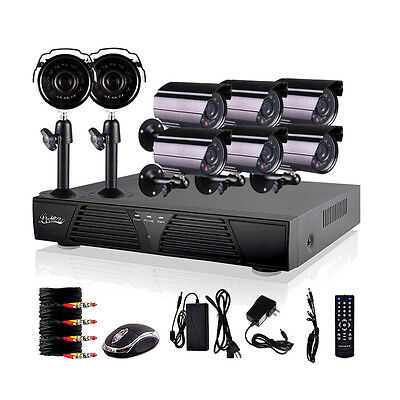 USA HQ 8CH Channel Video Surveillance DVR Home Security System Outdoor Camera