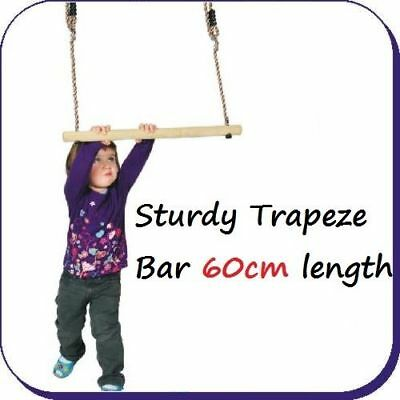 STURDY TRAPEZE BAR Wooden Garden Swing Playground Toy Climbing Frame FREE P&P!
