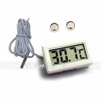 Digital Panel LCD Temperature Meter Thermometer Display Celsius 1 Meter White