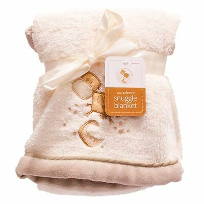 Babys Unisex Cream/off White Soft Blanket Wrap Snuggle For New Born Babies Uk