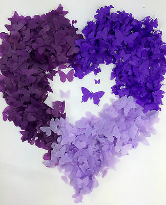 Purple Butterfly Confetti Biodegradable Lilac Grape Handmade fill up to 10 cones