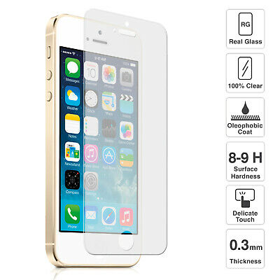 Premium Quality Tempered Glass Screen Protector for iPhone 5 5S 5C SE