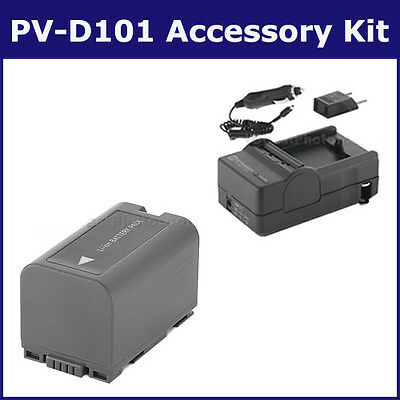 SDCGRD16 Battery & Charger Power Rlacement Kit for Panasonic CGRD16 Battery