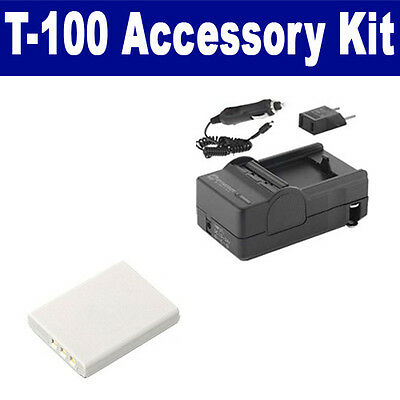 SDLI80B Battery & Charger replacement kit for Olympus LI80B battery