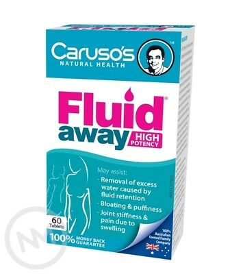 Caruso's Natural Fluid Away Dieuretic - 60 Tabs - Aust L 177655
