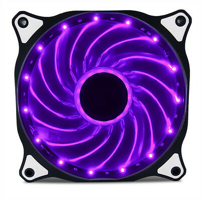 Autolizer 120mm LED Neon BLUE Computer PC Case Cooling Fan Quiet Sleeve Bearing