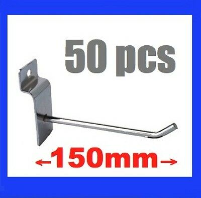 50 New Metal Slatwall Slat Wall Board Hooks 15cm