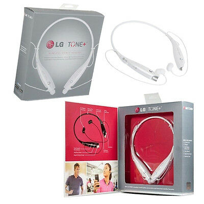 New Lg White Hbs-730 Hbs730 Tone+ Plus Stereo Bluetooth Headset Headphone For G2