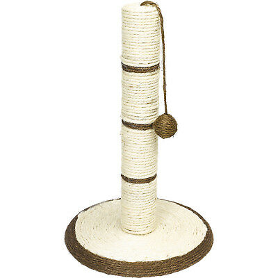 Pet Face Natural Sisal Rope Scratching Post Fun Cat Kitten Play Toy Scratcher