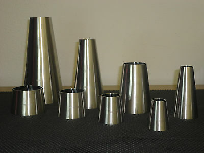 """One Sanitary stainless steel weld  concentric reducer 3"""" X 1 1/2 """""""