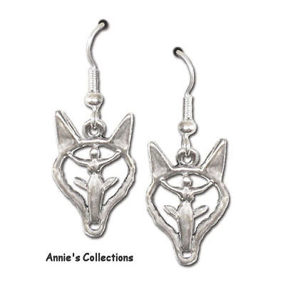 Sterling Silver USA Made Wolf Earrings Celtic Wolf Walker Classic Images
