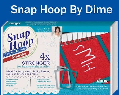 """Dime Snap Embroidery Hoop Monster For Quick Snap 4""""X4""""-BMP Series, PR600, PR1000"""