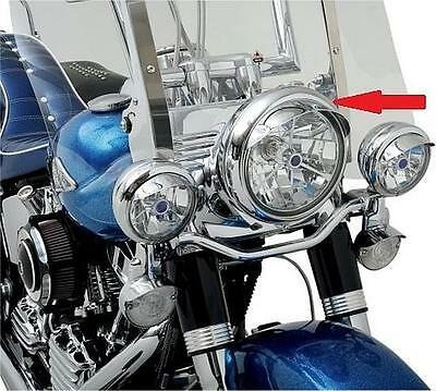 Drag Specialties 7 inch Chrome Steel Headlight Visor For Harley