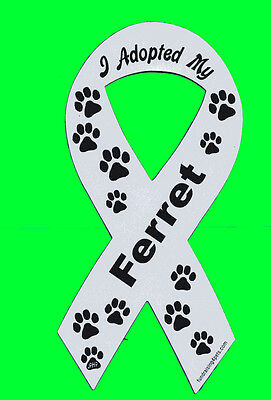 I Adopted My Ferret Ribbon Magnet,4 Dog Cat Pet Rescue Charity