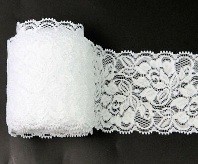 1 Roll 10 Yds Bleaching White Net Lace Trim Flower Embroidered Sewing Lace Trims