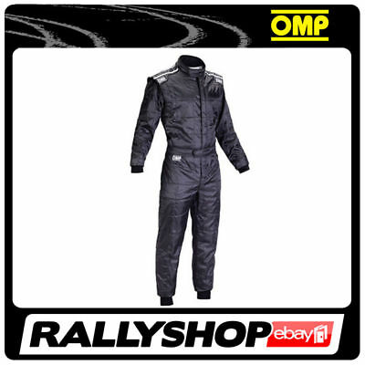 OMP KS-4 Suit Black Size XXL 62-64 Go Karting Racing Overall CIK-FIA 4 Layers