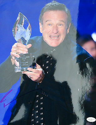 "Robin Williams "" People's Choice Award "" Signed 11x14 Photo JSA"